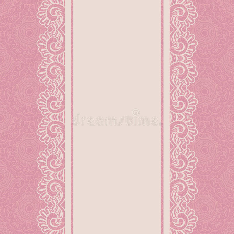 Download Vintage Lace Border Seamless Background Stock Vector