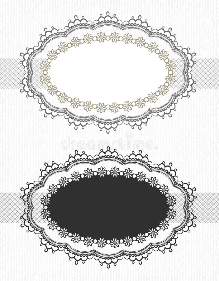 Download Vintage lace borders set stock vector. Illustration of design - 28801344