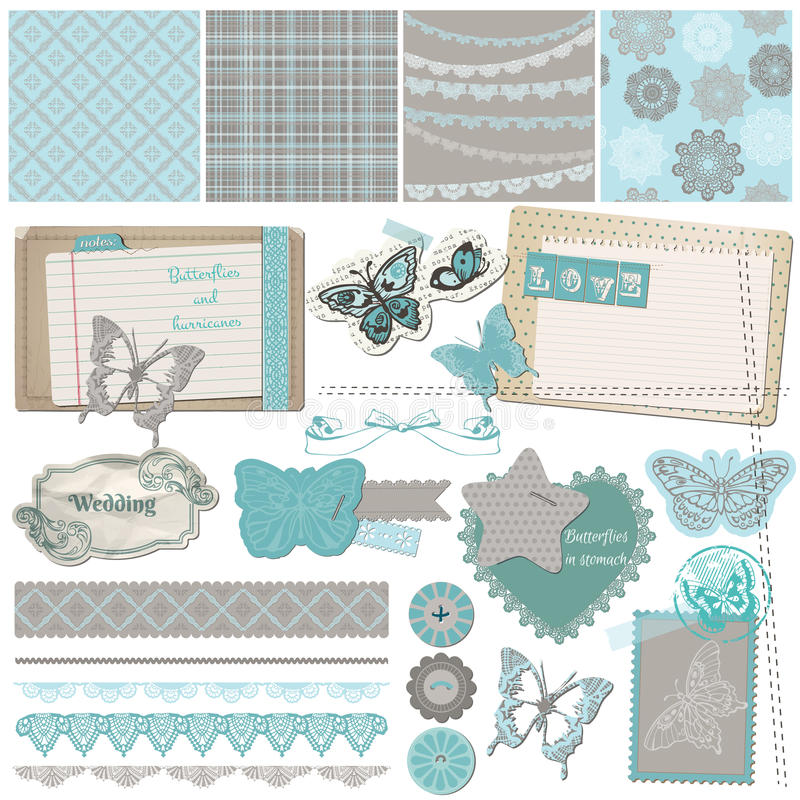Free Vintage Lace Butterflies Stock Photo - 29899840