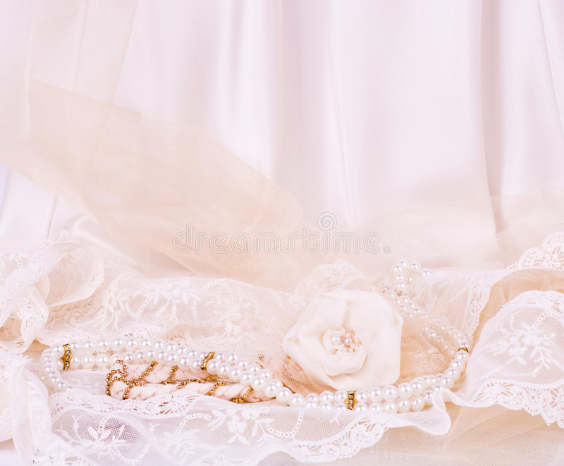 Vintage lace with flowers royalty free stock photo
