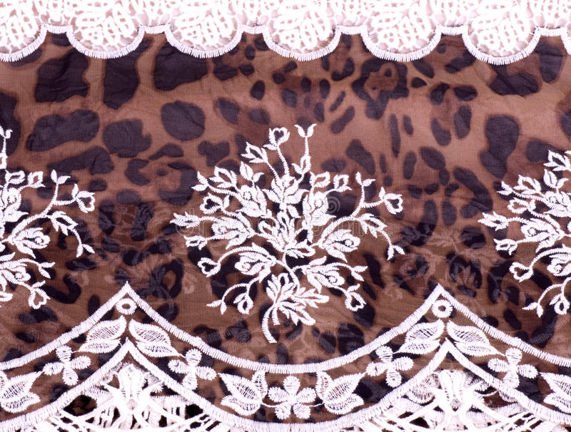 Vintage lace with flowers stock photography