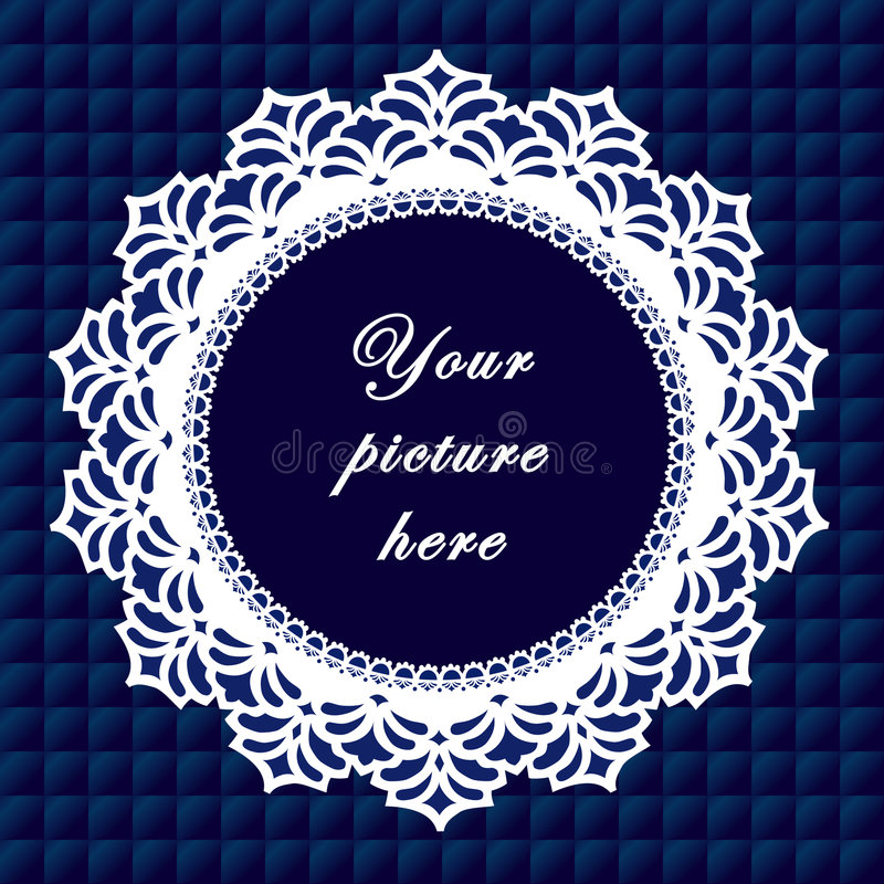 Download Vintage Lace Frame, Seamless Background Stock Vector - Image: 6341872