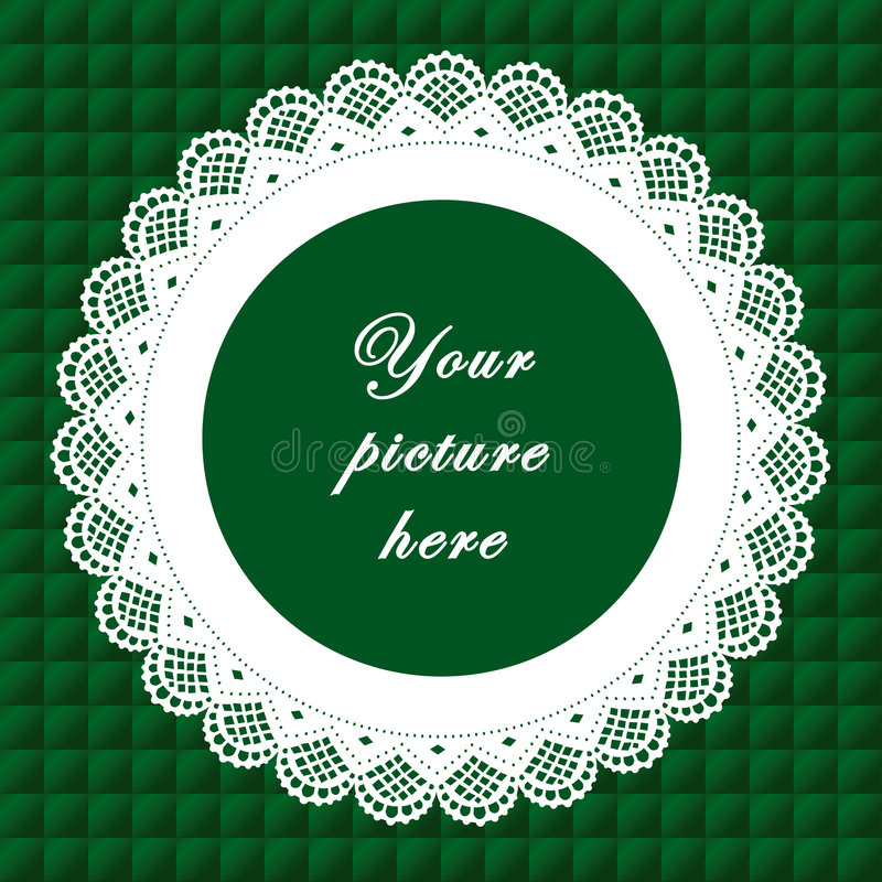 Download Vintage Lace Frame, Seamless Background Stock Vector - Image: 6341959