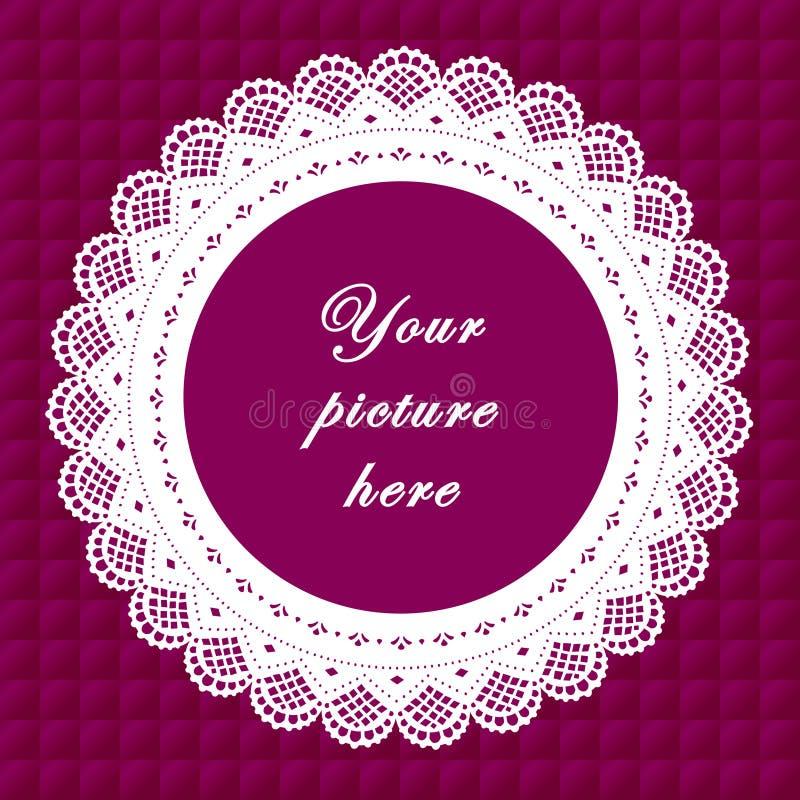Download Vintage Lace Frame, Seamless Background Stock Vector - Illustration: 6342088