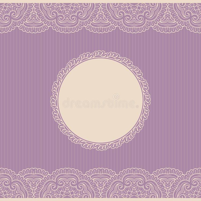 Vintage lace frame stock illustration