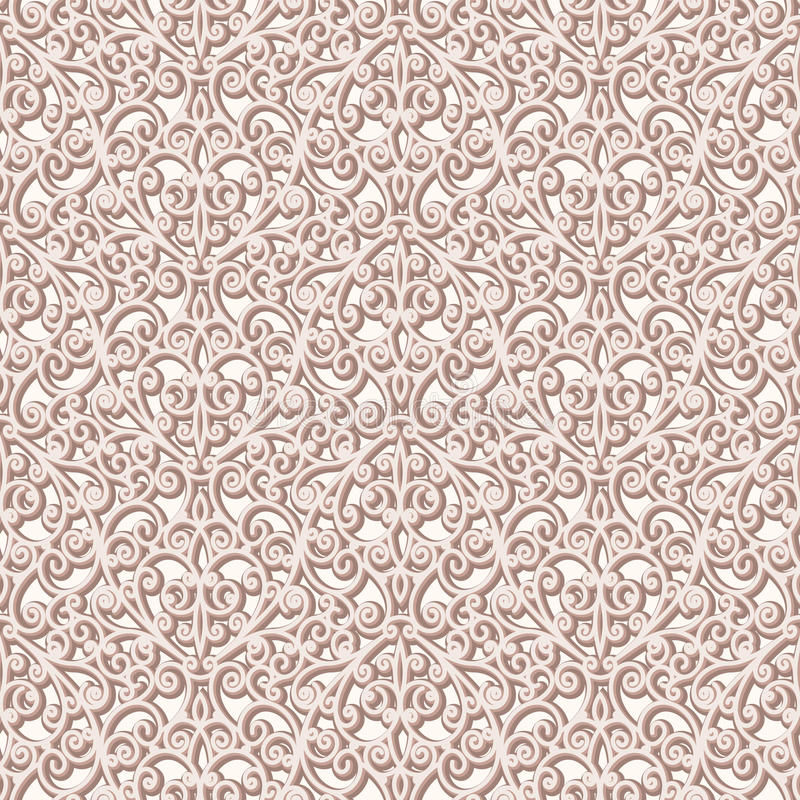 Vintage lace texture. Abstract seamless pattern, lace texture, vintage beige background royalty free illustration