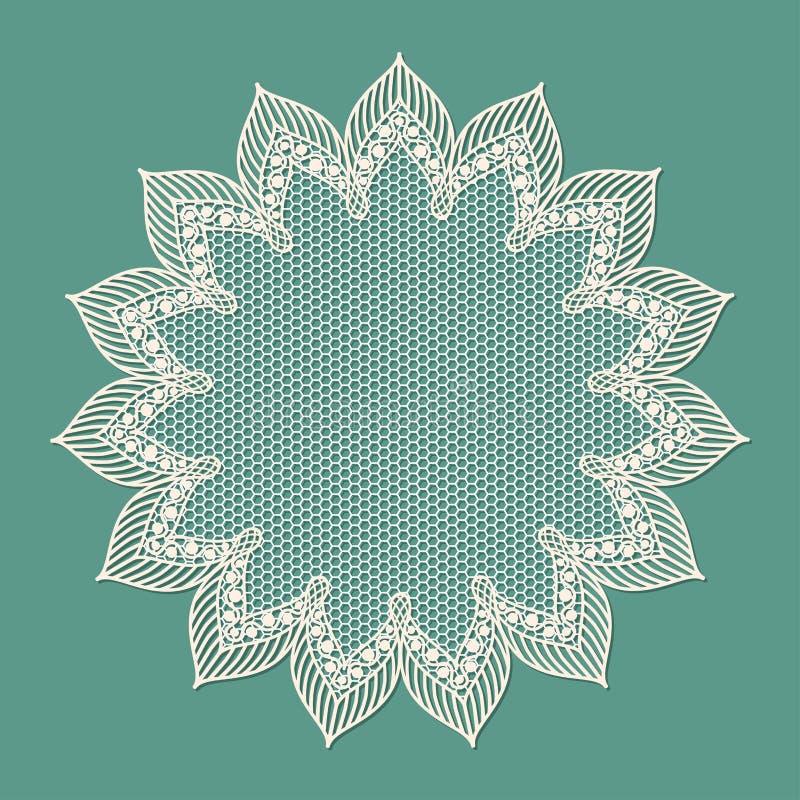Vintage lacy frame, doily. vector illustration