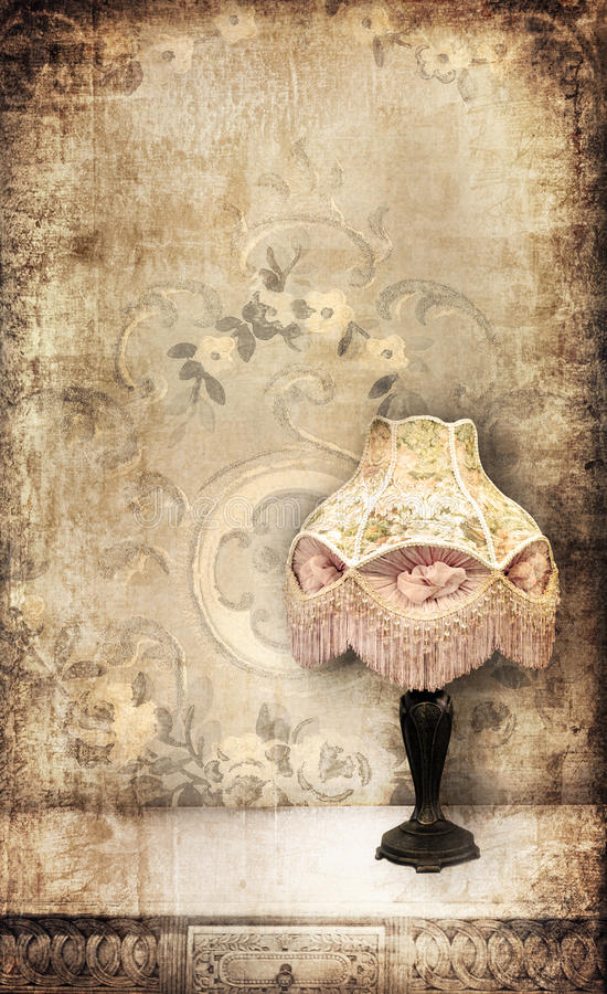 Vintage lamp royalty free illustration