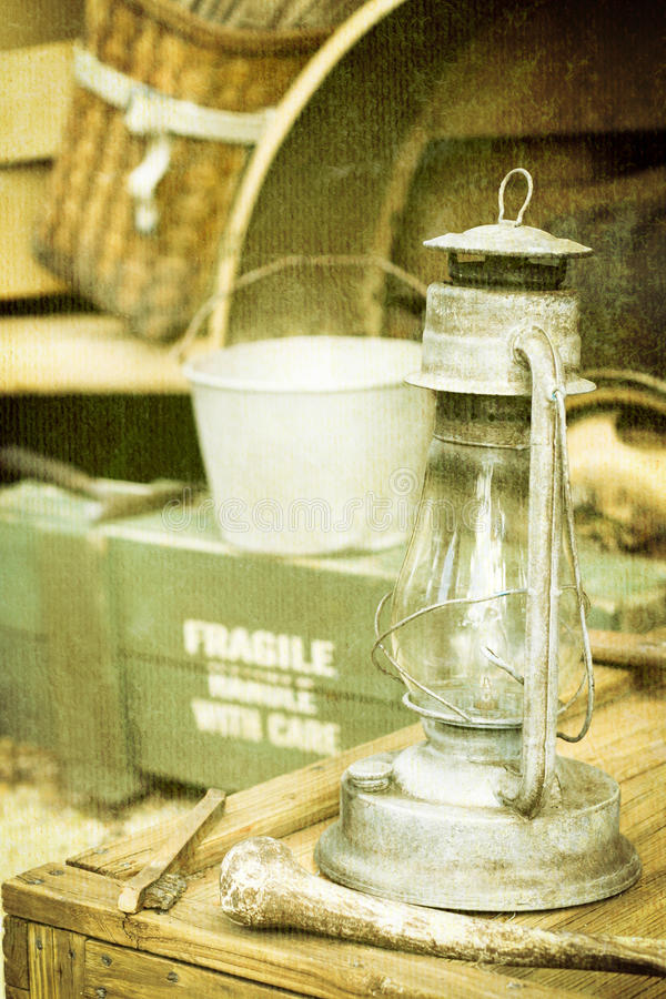 Download Vintage lamp stock image. Image of museum, grungy, dusty - 25769783