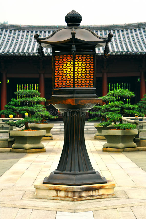 Download Vintage lamp post stock image. Image of monastery, garden - 19107543