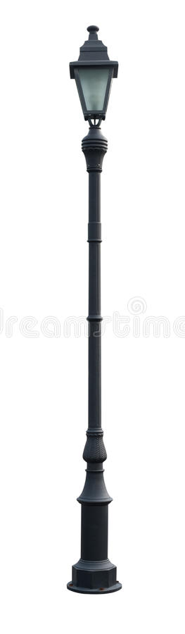 Free Vintage Lamp Post Street Road Light Pole Isolated On White Stock Photography - 33472942
