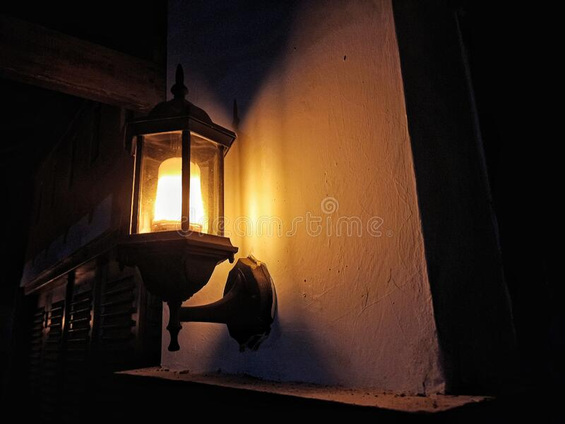 Vintage Lamp with uniqe model. Look beautiful and traditional vintage royalty free stock image