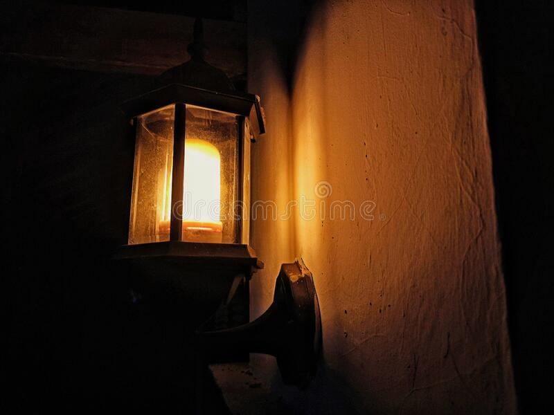 Vintage Lamp. With uniqe model, look beautiful and traditional vintage stock photos