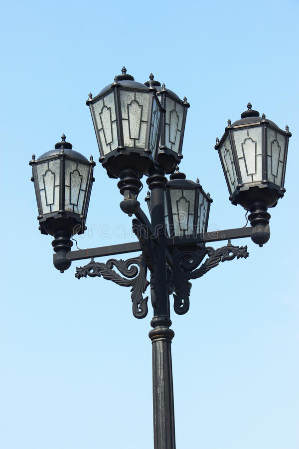 Vintage lamppost royalty free stock image