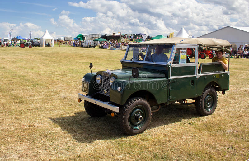 Vintage Land Rover stock photos