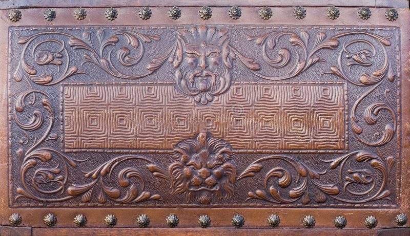 Download Vintage leather chair stock photo. Image of macro, lion - 4868880