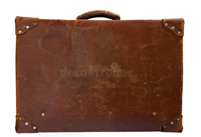 Vintage leather suitcase royalty free stock photography