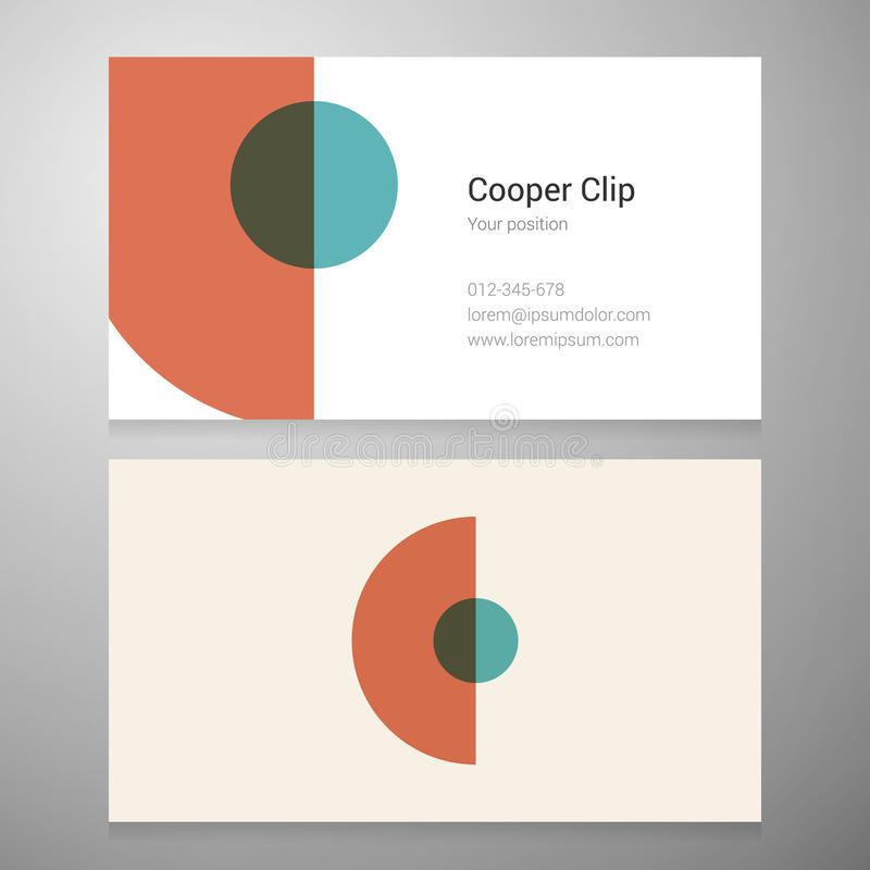 Vintage letter C icon business card template stock image