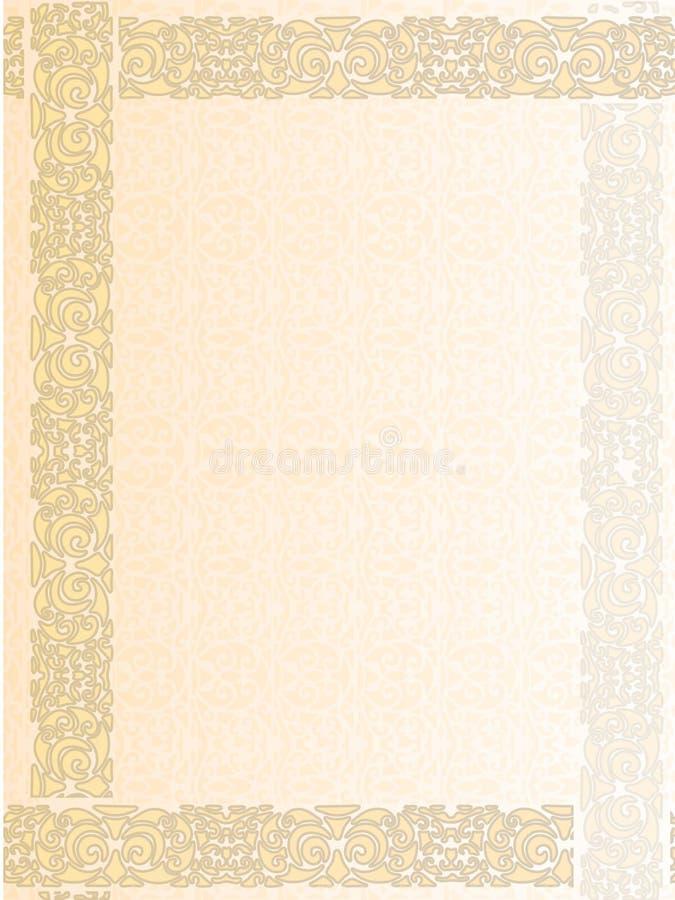 Vintage Letter Form Background Royalty Free Stock Image