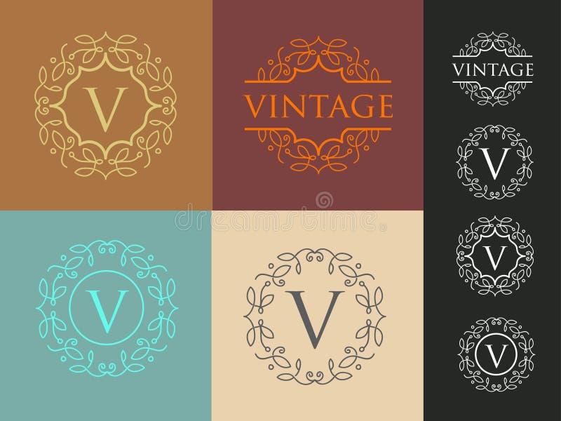 Simple Elegant Line Art : Vintage letter logo stock photo image of fine elegant