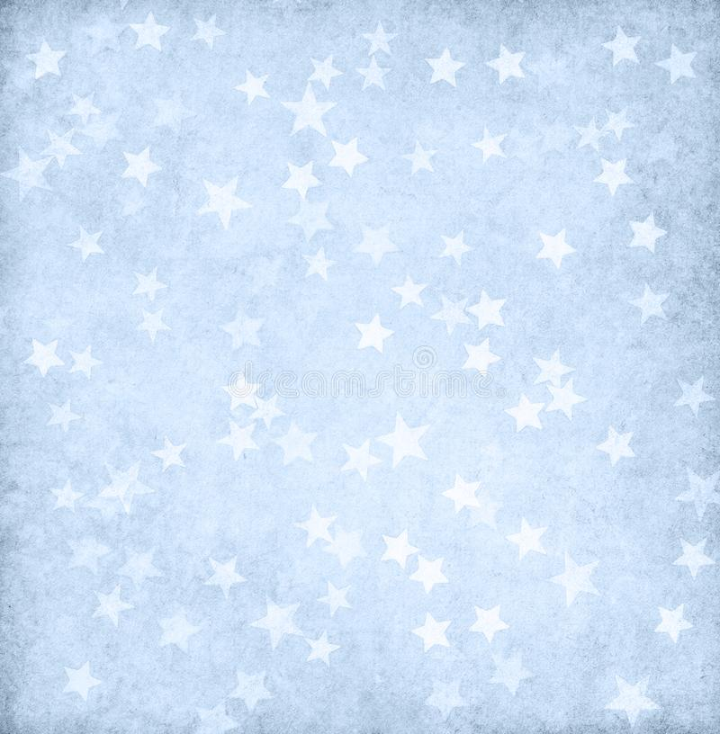 Vintage light blue paper decorated with stars royalty free stock photography
