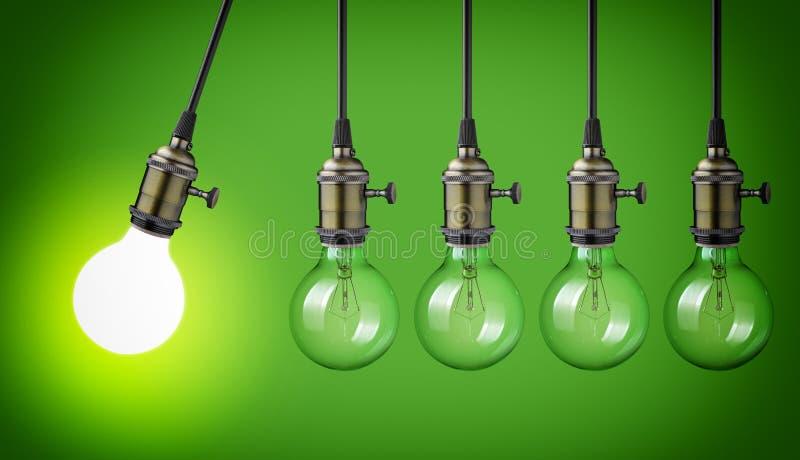 Vintage light bulbs royalty free stock image