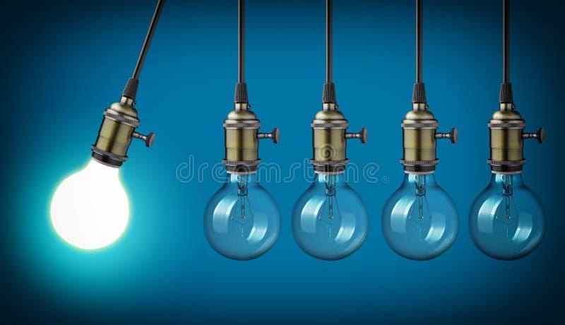 Vintage light bulbs royalty free illustration