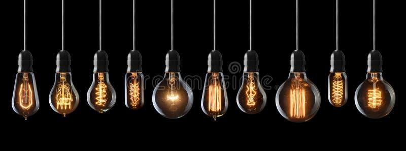 Vintage light bulbs royalty free stock photos