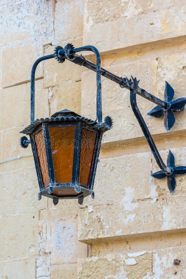 Vintage light in Mdina, Malta royalty free stock image