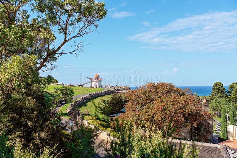 Vintage Lighthouse At Australian Museum stock images