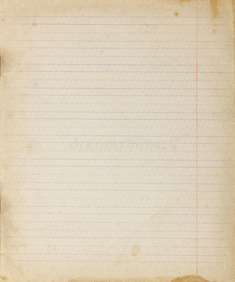 Vintage Lined Paper Background Stock Image - Image of ...