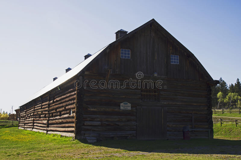 Download Vintage log barn editorial stock photo. Image of mile - 50431203