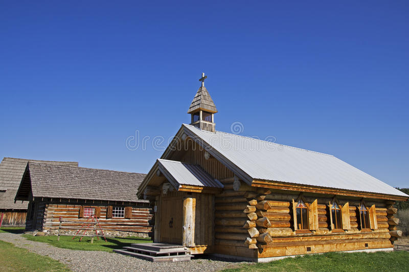 Download Vintage Log Church editorial stock photo. Image of church - 50431218