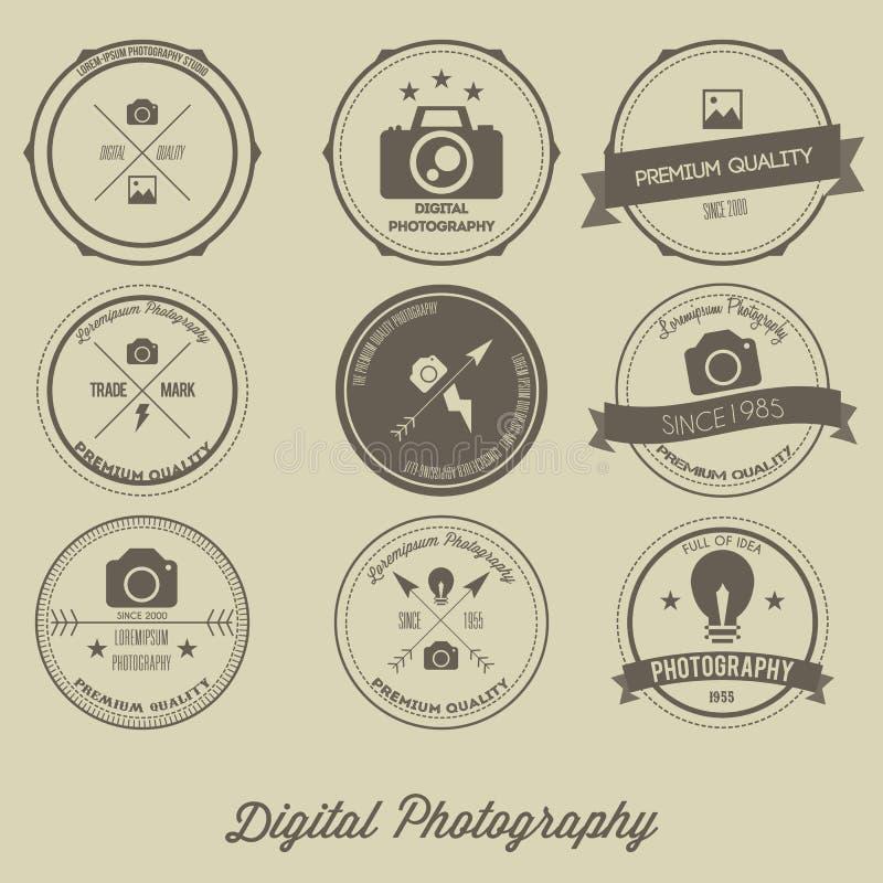 Vintage Logo Concept créatif de photographie illustration stock