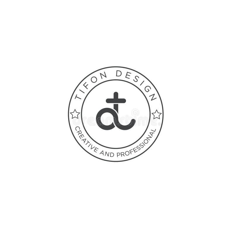 Vintage logo design with icon royalty free illustration