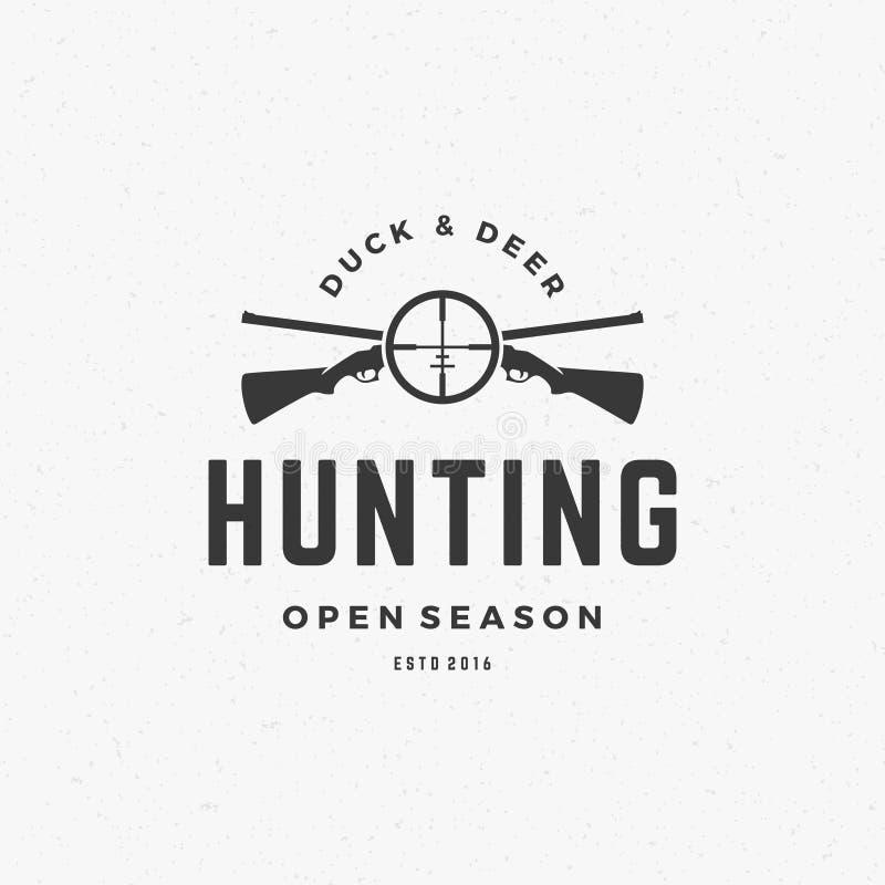 Vintage Logo Template Emblem do clube de caça ilustração stock