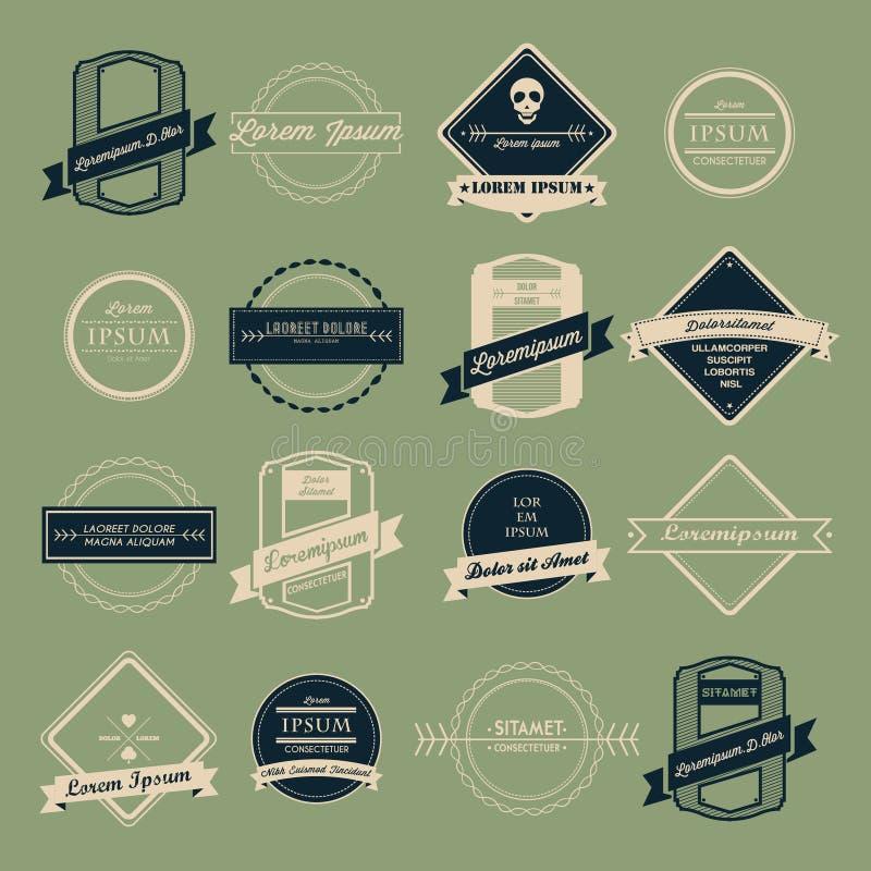 Vintage logo vector set vector illustration