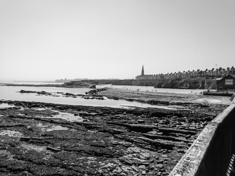 Vintage look of Whitley Bay. A vintage look of a seaside town in northern England royalty free stock photo