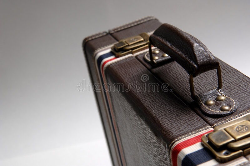 Download Vintage Looking Suitcase 2 stock photo. Image of striped - 844966