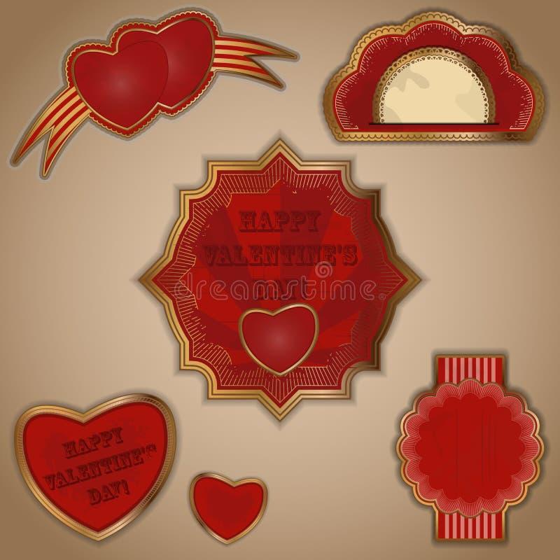 Download Vintage love labels set stock vector. Image of note, celebration - 22955352