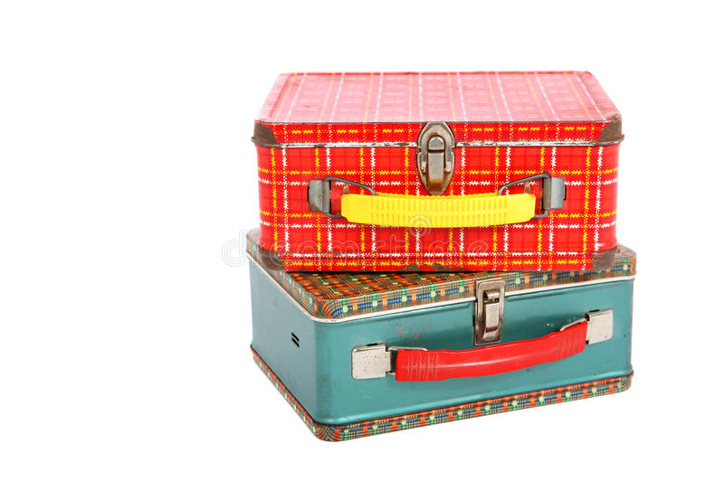 Vintage Lunch boxes royalty free stock photos
