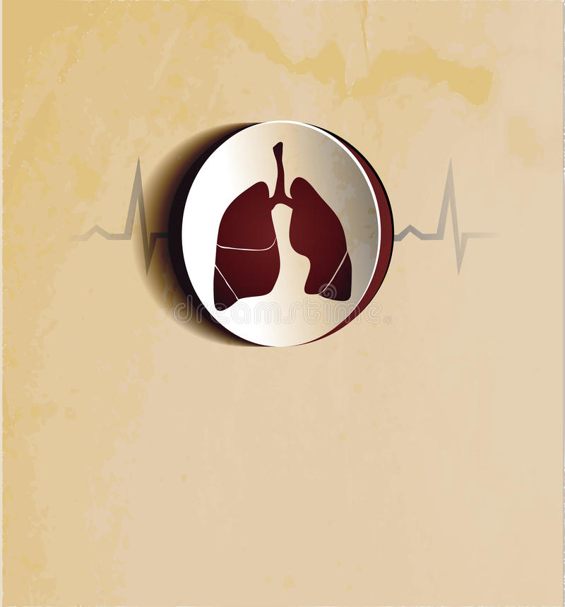 Vintage Lungs Wallpaper Stock Photography