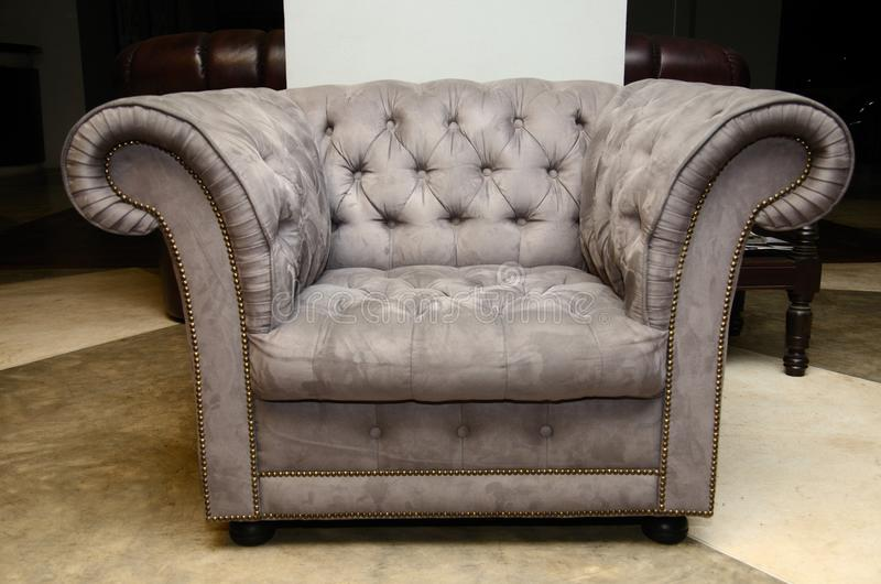 Vintage Luxury Arm Chair Royalty Free Stock Photography