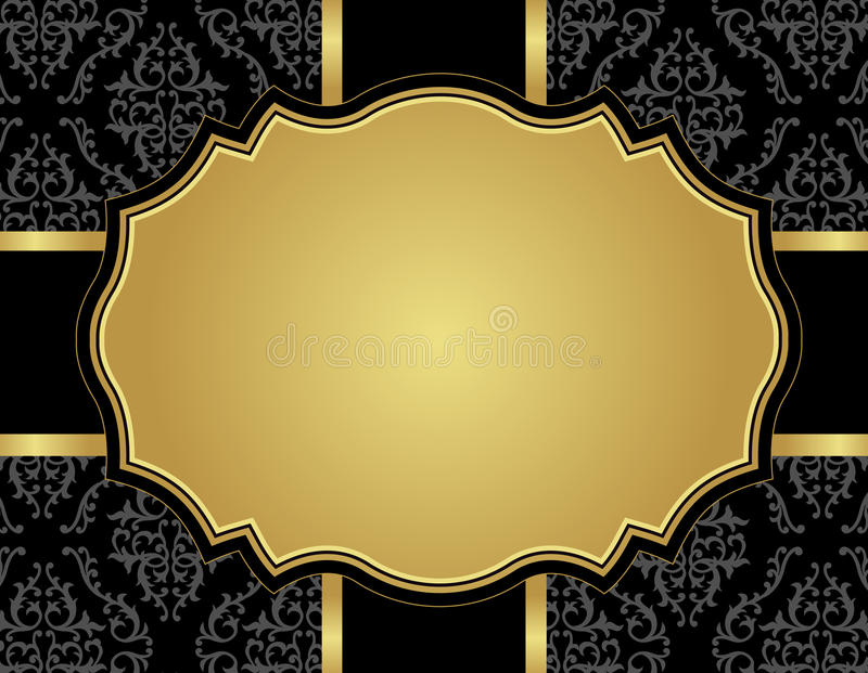 Download Vintage Luxury Card With Damask Seamless Pattern Stock Vector - Image: 30809581