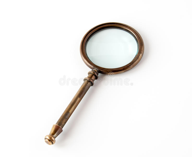 Vintage magnifier royalty free stock images
