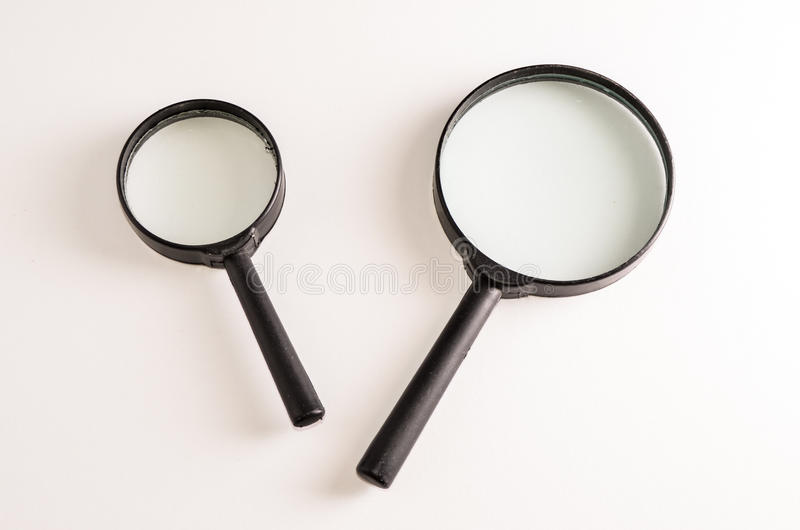 Vintage Magnify Glass Loupe. On a White Background royalty free stock photo