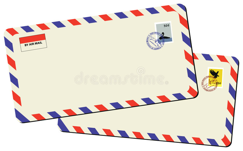 Vintage Mails Royalty Free Stock Photo