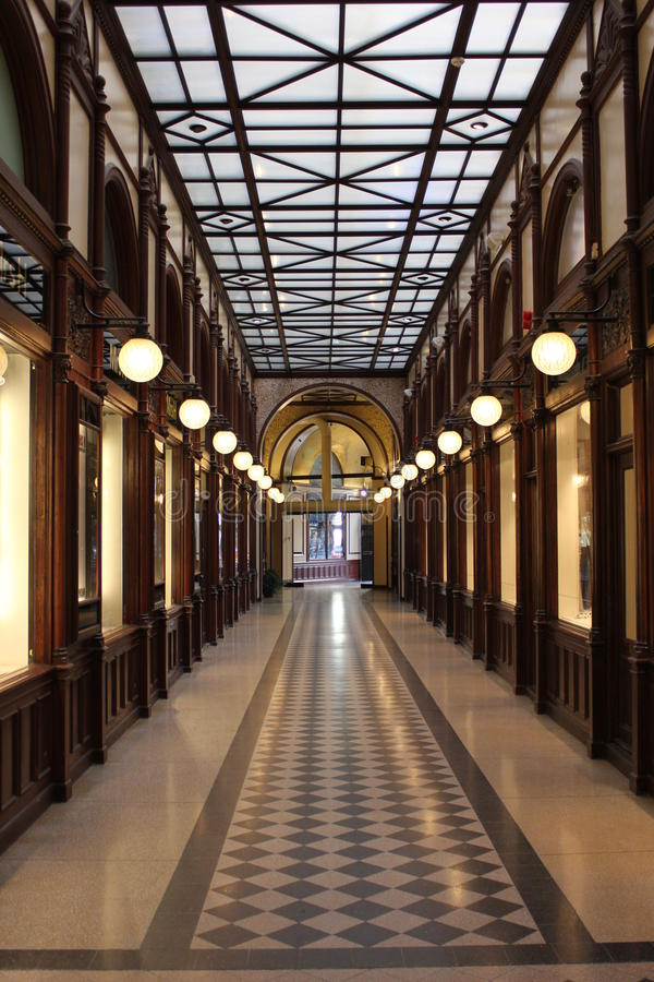 Vintage Mall in Paris stock images