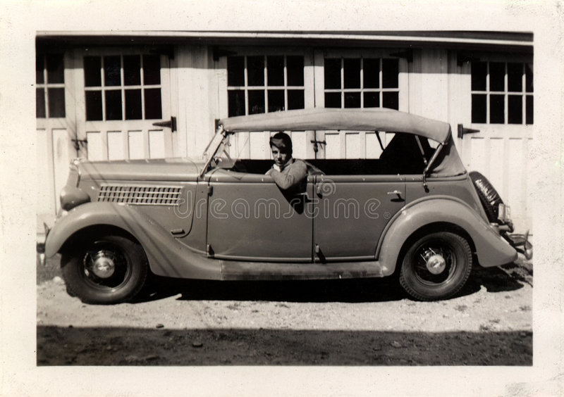 Download Vintage Man In Car stock photo. Image of antique, remember - 110162