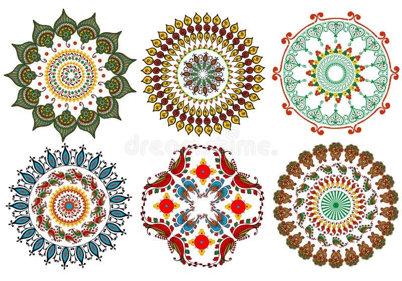 Vintage mandala design elements royalty free illustration